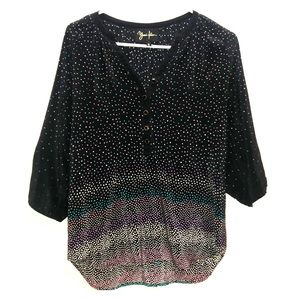Yumi Kim Blouse, with fading colored polka-dots